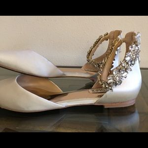 2071f99a1391 Badgley Mischka Shoes - Badgley Mischka Morgen ankle strap embellish flat